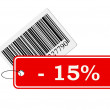 Stock Photo: Bar code with labeling