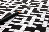 Crossword puzzle — Stock fotografie