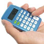Hand holding a calculator — Stock Photo