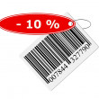 Barcode with labeling - Foto Stock