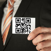 Concept with qr code — Stock Photo