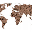 World map of dry ground — Stock Photo #14776625