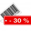 Bar code with labeling — Stock Photo