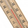 Wooden thermometer — Stock Photo #31702711