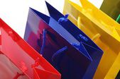 Colored shopping bags — Stock Photo