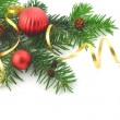 Christmas branch with ball — Stock Photo
