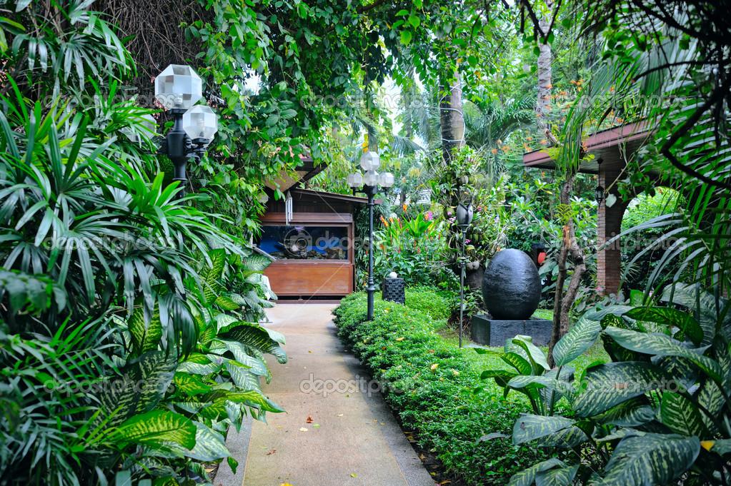 Jardim tropical — Fotografias de Stock © natlit #14439323
