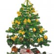 Decorated Christmas tree — Stock Photo #15759553
