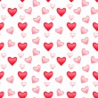 Stock Photo: Valentine seamless pattern