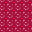 Valentine seamless pattern - Stock Photo