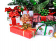 gifts under Christmas tree  — Stok fotoğraf