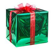 Yeşil hediye kutusu — Stok fotoğraf