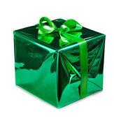 Green gift box — Стоковое фото