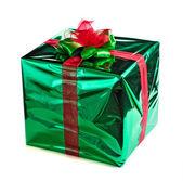 Scatola regalo verde — Foto Stock