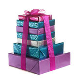 Pila de cajas de regalo — Foto de Stock