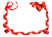 Red ribbon heart — Stock Photo
