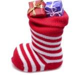 Santa stocking — Stock Photo #7387543