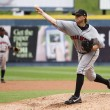 Stock Photo: Indianapolis Indians pitcher SeGallagher throws
