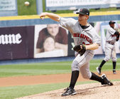 Indianapolis Indians pitcher Blaine Boyer throws — Stock Photo