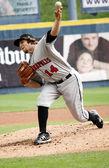Indianapolis Indians pitcher Daniel Moskos — Stock Photo