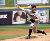Indianapolis Indians pitcher Blaine Boyer throws — Stock Photo