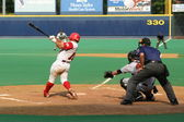 Scranton Wilkes Barre Red Barons'catcher Carlos Ruiz — Stock Photo