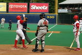 Scranton Wilkes Barre Red Barons catcher Carlos Ruiz — Stock Photo