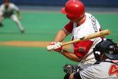 Scranton Wilkes Barre Red Barons' Jim Rushford swings — Stock Photo