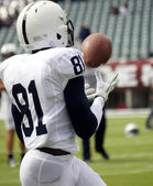Football player making a catch, reception — Stock Photo