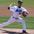 Binghamton Mets' pitcher Zack Wheeler throws a pitch — Stock Photo