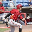 Постер, плакат: Andrew Lambo of the Altoona Curve currently with the Pirates