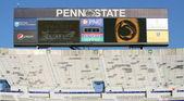 Penn State scoreboard up before a game with Illinois at Beaver Stadium on October 9, 2010 in University Park, PA — Stock Photo