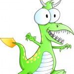 Cute Monster Dinosaur Dragon Vector — Stock Vector #12145136