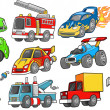Transportation Vehicle Vector Set — Stock Vector