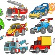 Stock Vector: Transportation Vehicle Vector Set