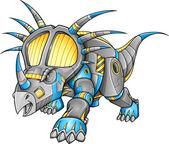 Robot Machine Triceratops Dinosaur Vector — Stock Vector