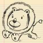 Lion Doodle Sketch — Stock Vector #13264439