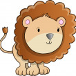 Cute Lion Cub vector Illustration - Stock Vector