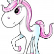 Cute Pretty Unicorn Vector — Stock Vector #13399370