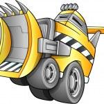 Apocalyptic Bulldozer truck Vehicle Vector — Stock Vector