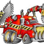 Apocalyptic Truck Vehicle Vector — Stock Vector