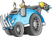 Apocalyptische voertuig vector — Stockvector