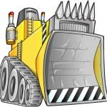 Apocalyptic Bulldozer Vector Illustration — Stock Vector