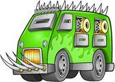 Apocalyptic Van Vehicle — Stock Vector