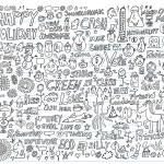 Doodle Design Elements Illustration Set — Stock Vector