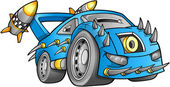 Apocalyptic Car Vehicle Vector — Stockvector
