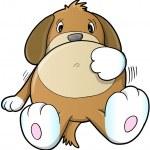 Cute Sick Puppy Dog Vector — Stock Vector #14364179