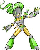 Vettore guerriero ninja aliena — Vettoriale Stock