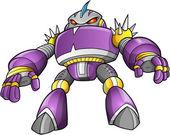 Lila robot krigare vektor konst — Stockvektor