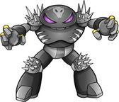 Warrior Robot Cyborg Soldier Vector — Stock Vector